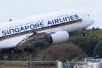 EF66901さんが、成田国際空港で撮影したシンガポール航空 A380-841の航空フォト(写真)