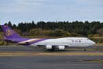 とりてつさんが、成田国際空港で撮影したタイ国際航空 747-4D7の航空フォト(写真)