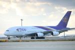 水月さんが、関西国際空港で撮影したタイ国際航空 A380-841の航空フォト(写真)