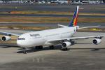 Tomo-Papaさんが、羽田空港で撮影したフィリピン航空 A340-313Xの航空フォト(写真)
