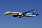 地主さんが、成田国際空港で撮影した全日空 787-9の航空フォト(写真)