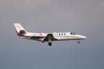 ポン太さんが、羽田空港で撮影した読売新聞 560 Citation Encore+の航空フォト(写真)