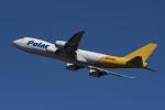 地主さんが、成田国際空港で撮影したポーラーエアカーゴ 747-87UF/SCDの航空フォト(写真)