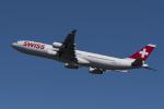 地主さんが、成田国際空港で撮影したスイスインターナショナルエアラインズ A340-313Xの航空フォト(写真)