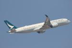 安芸あすかさんが、香港国際空港で撮影したキャセイパシフィック航空 A350-941XWBの航空フォト(写真)