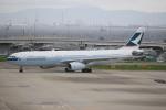 キイロイトリ1005fさんが、関西国際空港で撮影したキャセイパシフィック航空 A330-343Xの航空フォト(写真)