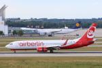 安芸あすかさんが、ミュンヘン・フランツヨーゼフシュトラウス空港で撮影したニキ航空 737-86Jの航空フォト(写真)