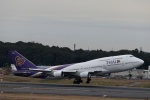 鷹輝@SKY TEAMさんが、成田国際空港で撮影したタイ国際航空 747-4D7の航空フォト(写真)