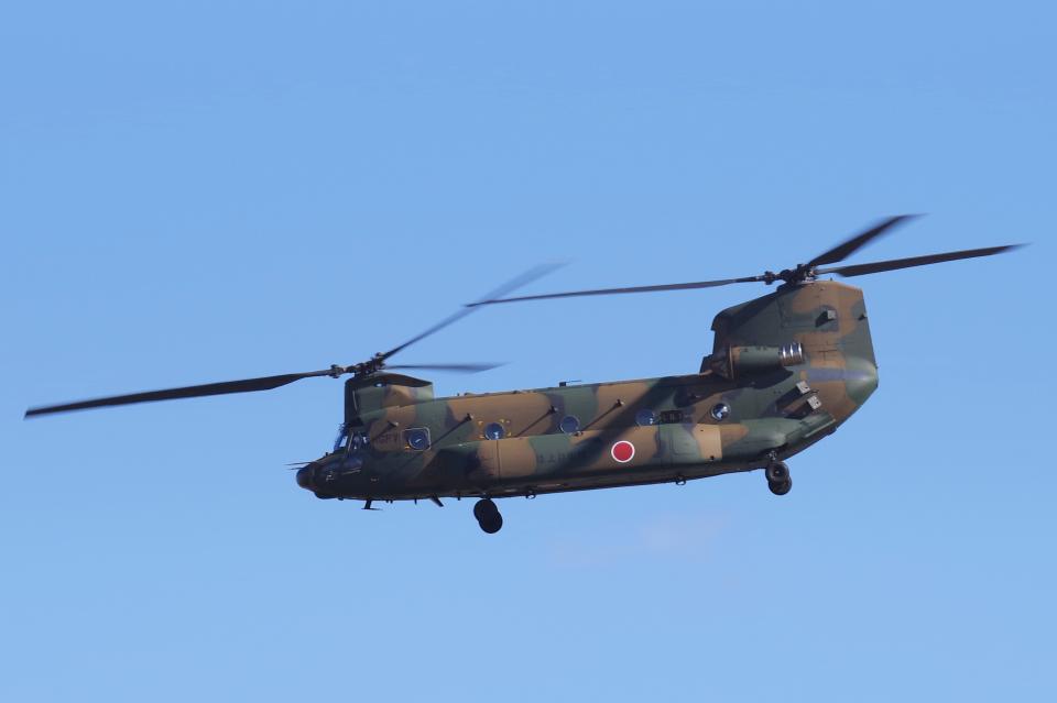 yabyanさんの陸上自衛隊 Kawasaki CH-47J Chinook (52986) 航空フォト