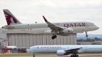 誘喜さんが、ロンドン・ヒースロー空港で撮影したカタール航空 A320-214の航空フォト(写真)