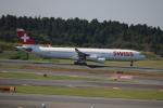 motokimuさんが、成田国際空港で撮影したスイスインターナショナルエアラインズ A340-313Xの航空フォト(写真)