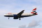 Koba UNITED®さんが、ロンドン・ヒースロー空港で撮影したブリティッシュ・エアウェイズ A319-131の航空フォト(写真)