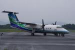 神宮寺ももさんが、五島福江空港で撮影したオリエンタルエアブリッジ DHC-8-201Q Dash 8の航空フォト(写真)