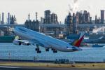 たかしさんが、羽田空港で撮影したフィリピン航空 A340-313Xの航空フォト(写真)