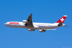 ぱん_くまさんが、成田国際空港で撮影したスイスインターナショナルエアラインズ A340-313Xの航空フォト(写真)