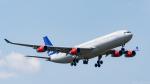 ぱん_くまさんが、成田国際空港で撮影したスカンジナビア航空 A340-313Xの航空フォト(写真)