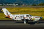 うめやしきさんが、静岡空港で撮影した日本フライングサービス PA-46-310P Malibuの航空フォト(飛行機 写真・画像)