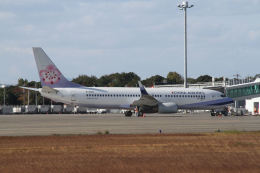 はるさんが、山口宇部空港で撮影したチャイナエアライン 737-809の航空フォト(飛行機 写真・画像)