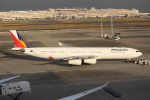 OMAさんが、羽田空港で撮影したフィリピン航空 A340-313Xの航空フォト(写真)