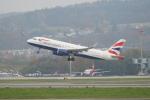 pringlesさんが、チューリッヒ空港で撮影したブリティッシュ・エアウェイズ A320-232の航空フォト(写真)
