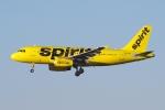 zettaishinさんが、ハーツフィールド・ジャクソン・アトランタ国際空港で撮影したスピリット航空 A319-132の航空フォト(写真)