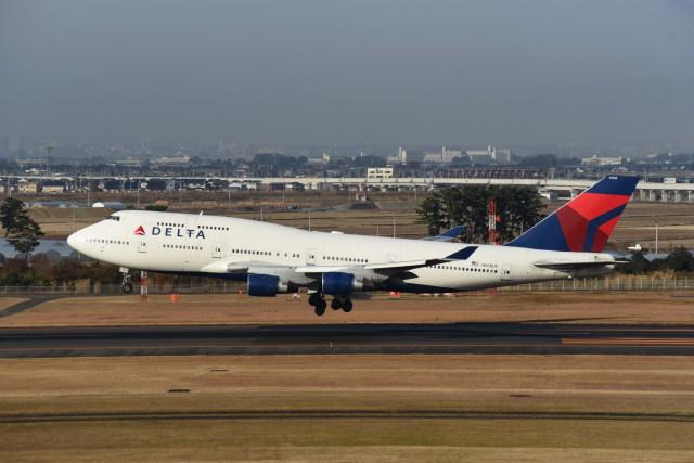 kumagorouさんが、仙台空港で撮影したデルタ航空 747-451の航空フォト(飛行機 写真・画像)