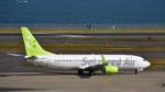 パンダさんが、成田国際空港で撮影したソラシド エア 737-81Dの航空フォト(飛行機 写真・画像)