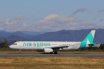 じゃりんこさんが、静岡空港で撮影したエアソウル A321-231の航空フォト(写真)