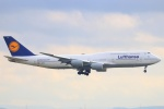 ぽっぽさんが、フランクフルト国際空港で撮影したルフトハンザドイツ航空 747-830の航空フォト(写真)