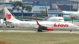 誘喜さんが、シンガポール・チャンギ国際空港で撮影したライオン・エア 737-9GP/ERの航空フォト(飛行機 写真・画像)