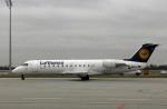 planetさんが、ミュンヘン・フランツヨーゼフシュトラウス空港で撮影したルフトハンザ・シティライン CL-600-2B19 Regional Jet CRJ-100LRの航空フォト(写真)