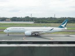 チャッピー・シミズさんが、ニノイ・アキノ国際空港で撮影したキャセイパシフィック航空 A350-941XWBの航空フォト(写真)