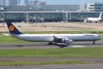 セブンさんが、羽田空港で撮影したルフトハンザドイツ航空 A340-642Xの航空フォト(飛行機 写真・画像)