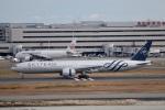鷹輝@SKY TEAMさんが、羽田空港で撮影したガルーダ・インドネシア航空 777-3U3/ERの航空フォト(写真)