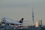 鷹輝@SKY TEAMさんが、羽田空港で撮影したルフトハンザドイツ航空 747-830の航空フォト(写真)