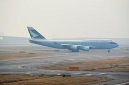 ○○●●さんが、関西国際空港で撮影したキャセイパシフィック航空 747-412(BCF)の航空フォト(飛行機 写真・画像)