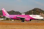 てくてぃーさんが、松山空港で撮影したピーチ A320-214の航空フォト(飛行機 写真・画像)