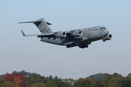 isiさんが、横田基地で撮影したアメリカ空軍 C-17A Globemaster IIIの航空フォト(飛行機 写真・画像)