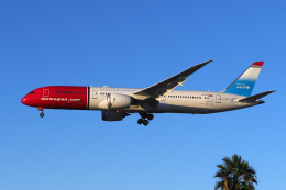 LAX Spotterさんが、ロサンゼルス国際空港で撮影したノルウェー・エアUK 787-9の航空フォト(写真)