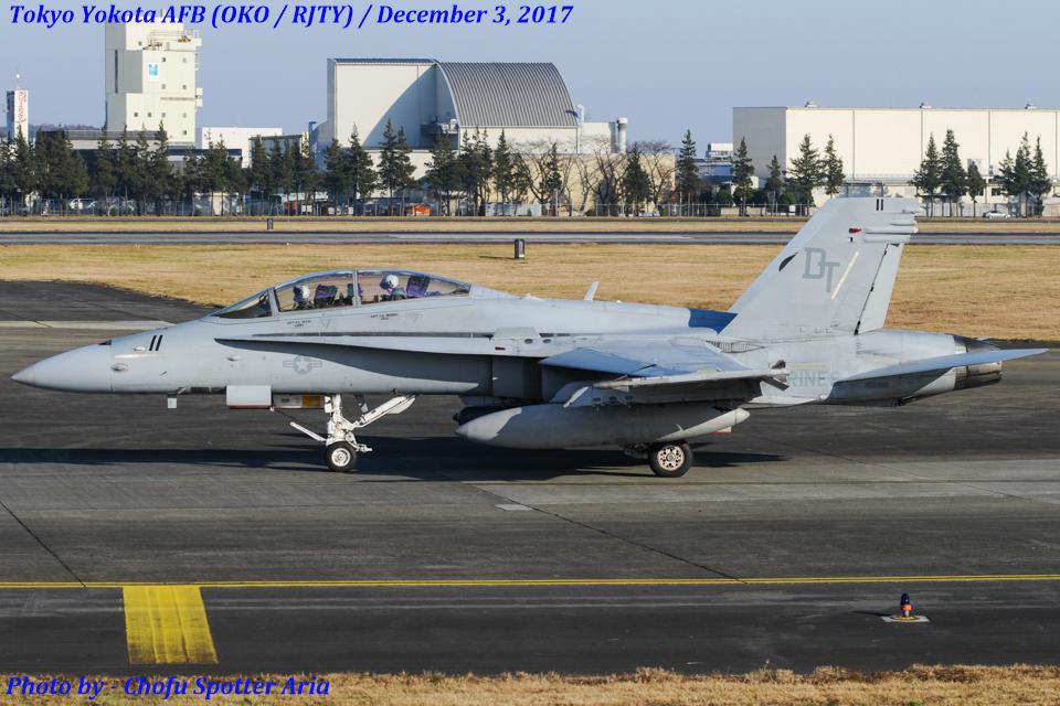 Chofu Spotter Ariaさんのアメリカ海兵隊 McDonnell Douglas F/A-18 Hornet (165416) 航空フォト
