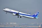 よしポンさんが、羽田空港で撮影した全日空 A321-211の航空フォト(写真)
