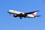 まいけるさんが、スワンナプーム国際空港で撮影したオーストリア航空 777-2B8/ERの航空フォト(写真)