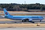 にしやんさんが、成田国際空港で撮影した大韓航空 737-9B5の航空フォト(写真)