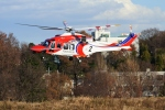 りゅうさんさんが、調布飛行場で撮影した札幌市消防局消防航空隊 AW139の航空フォト(写真)