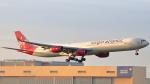 誘喜さんが、ロンドン・ヒースロー空港で撮影したヴァージン・アトランティック航空 A340-642Xの航空フォト(写真)