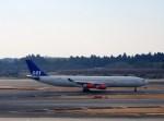 よんすけさんが、成田国際空港で撮影したスカンジナビア航空 A340-313Xの航空フォト(写真)