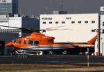 チャーリーマイクさんが、東京ヘリポートで撮影した新日本ヘリコプター 412EPの航空フォト(写真)