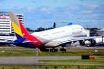 まいけるさんが、シドニー国際空港で撮影したアシアナ航空 A380-841の航空フォト(写真)