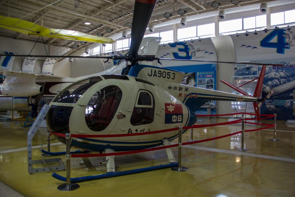 Mame @ TYOさんの中日新聞社 Kawasaki Hughes 369 (JA9053) 航空フォト