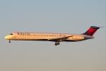 zettaishinさんが、ハーツフィールド・ジャクソン・アトランタ国際空港で撮影したデルタ航空 MD-88の航空フォト(写真)